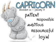 Capricorn: December 22 - January 19