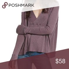 Free People Oceanview Long Sleeve Soft Top Wine Free People Oceanview Cozy Soft Long Sleeve Top In Wine  Brand New With Tags - Perfect Condition We The Free Oceanview Top  Size - Extra Small Color - Wine  Irresistibly soft long sleeve top featuring an easy, swingy shape and a ribbed design. Structured V-neckline  Thumbholes  Semi-sheer fabrication Machine Wash Cold  Measurements laying flat: Length: 22 in Bust: 28 in Sleeve Length: 26 in  50% Cotton, 50% Polyester Free People Tops