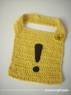 Curupisa: Señal de alerta (un babero a crochet) / Alert sign (a crochet bib)