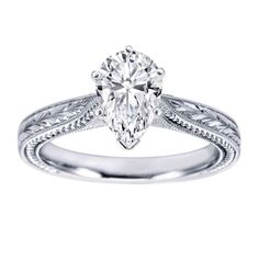White Gold Ring Pear Settings | ... Shop / Engagement Rings / Pear Shaped White Gold Solitaire Setting 31