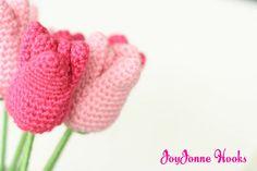 crocheted tulips found thru crafting school sunday