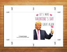 Valentine Card Printable Donald Trump Valentines by EnjoyPrintable