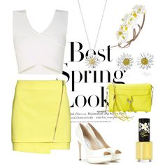 Best Spring Look: Daisies? by ninastylez on Polyvore featuring polyvore fashion style BCBGMAXAZRIA H&M Jimmy Choo Rebecca Minkoff Daisy Jewellery Forever 21 Rimmel