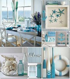 Coastal Living Deco Ideas - Once made the decision .Coastal Living Deco Ideas - Once you have made the decisions about the larger elements, such as wall paint o . Beach Cottage Style, Beach Cottage Decor, Coastal Cottage, Coastal Style, Coastal Farmhouse, Beach Kitchen Decor, Cottage Porch, Modern Farmhouse, Coastal Bedrooms