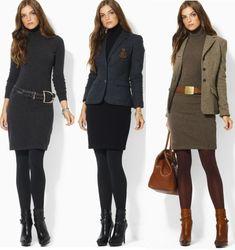 Ralph Lauren KNit Cashmere Wool Turtleneck Dress All 3 Colors
