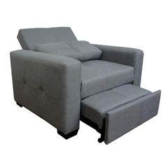 ¡Mira cómo se hace cama!   ¡Llegó un nuevo estilode sillóncama! Diseño exclusivo de SOFAMEX, este comodísimo nuevo modelo cuenta con respaldo de tres posiciones e incluye un cojín que puedes utilizar como almohada. Viene tapizado en tela tipo lino, muy cómoda para dormir. Y muy pronto, ¡espéralo en más colores! Es facilísimo hacerlo cama: sólo jala la parte inferior y un sencillo mecanismo te ayuda a levantarlo para que quede a la altura del asiento, como una cama individual. Es…