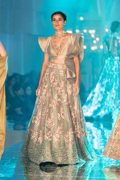 Silver embroidered Manish Malhotra cocktail lehenga #Frugal2Fab
