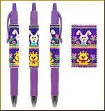Easter Parade Pilot G2 Pen Cover Pattern by Kristy Zgoda