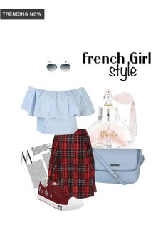 'French Girl Style' by me on Limeroad featuring Stripes White Tops with Red Skirts