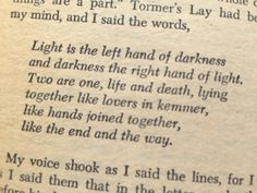 Some times you read something, and it feels like cosmic expansion all over again. The Left Hand of Darkness - Ursula K. Le Guin
