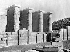 Egypt: Sakkara, Egyptian Old Kingdom Step Pyramid, 3rd Dynasty west colonnade. By Brooklyn Museum, taken sometime in 1900.