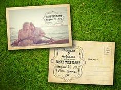 wedding postcard template - Google Search