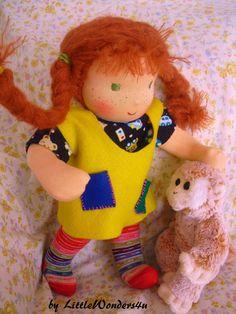 Pippi Longstocking handmade Waldorf doll