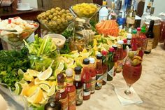 I will serve this Bloody Mary bar several times in my life, whether it's in my (wo)man cave or at my wedding =) LOVE me a Bloody Mary!