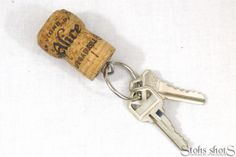 This is one of my Cork Creations by ~L~ - Champagne Cork and/or Beer Cork Keychains (76 count in the lot) - now available on Etsy! Makes great #wedding gifts or #party gifts!