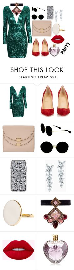 """SO HAPPY FOR PARTY"" by megi-queen on Polyvore featuring Christian Louboutin, Chloé, Miu Miu, Tiffany & Co., Erickson Beamon and Vera Wang"