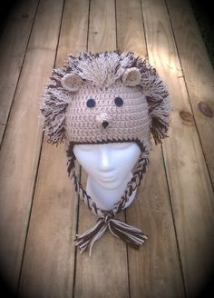 Hedgehog Hat by RebelSkein on Etsy Crochet Animal Hats 6c7a317cc18