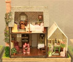Miss Marple's Cottage: quarter scale dollhouse