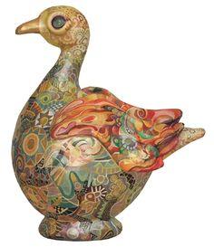 a paper mache duck