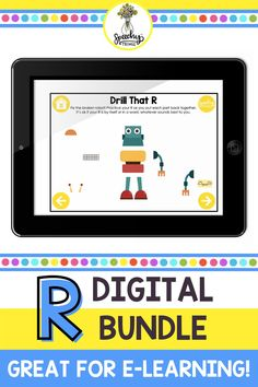 Make planning therapy easy with this digital R sound bundle. These resources are all digital, meaning no-prep, perfect for teletherapy, and are easy to just pull up on your iPad even for an in-person session. It contains materials for auditory discrimination, elicitation, achieving vocalic R, drill practice, and more! Articulation Therapy, Articulation Activities, Speech Therapy Activities, Digital Meaning, Phonological Processes, Therapy Games, Special Education Teacher, Speech And Language, Drill