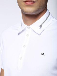 T-KLARK, White Shirt Collar Styles, Mens Designer Shirts, Mens Sleeve, Camisa Polo, Stylish Shirts, Polo T Shirts, Kurta Designs, Shirt Style, Diesel