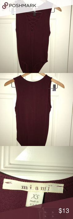 Maroon body suit NEVER WORN decided I didn't like it after I took the tags off Other