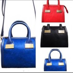 "Stunning Calf Hair Small Satchel bySondraRoberts Sondra Roberts smaller CALF Hair satchels are STUNNING!Stylish but not as cumbersome as the larger satchels, this bag is roomy enough for all your essentials and absolutely fabulous looking. The Hair calf leather is right on trend and the silky texture adds that element of hi-fashion hipness at our amazing price. Genuine Hair calf Leather,8"" Lx 6"" W x 8"" H;Double Handles 5"" Drop ,Detachable Cross,BodyShoulderstrap,GoldHardware,Zipper Top…"