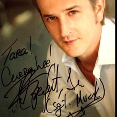 """My autographed photo of Richard Speight Jr. from NJ salute to Supernatural in Parsippany last August. He was so sweet, so down to earth- totally just talked to me and my dear friend Jenn for a good 15 minutes till more fans came up and he gave them the same attention because - good guy! I told him I was an """"old"""" and as such, as much as I loved him in SPN, he'd always be Sgt Skip Muck from """"Band of Brothers"""". He signed my photo accordingly. He's funny on twitter, too @dicksp8jr"""
