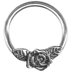 Amazon.com: A-14 gauge Earring-One 14g 3/8 inch Rose Flower Captive... ($14) ❤ liked on Polyvore featuring jewelry, earrings, earring jewelry, blossom jewelry, rose jewelry, flower jewelry and rose jewellery