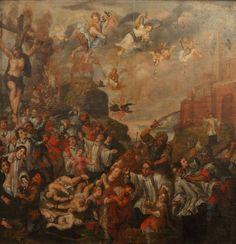 Francesco de Mura (Naples Latinus welcomes Aeneas and offers his daughter Lavinia in marriage oil on canvas 33 x in. x 152 cm. Oil Painting Reproductions, Oil On Canvas, Flora, Hand Painted, Marriage, Daughter, Oil Paintings, Madonna, Bella