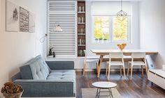 sala-pequena-mesa-jantar-banco-sofá-pequeno