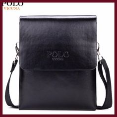 VICUNA POLO Hot Sell Brand Solid Double Pocket Soft Leather Men Messenger Bag Small 2 Layer Mens Travel Bag Mens Bag For Phone