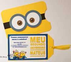 minions para montagem - Pesquisa Google Minions Birthday Theme, Birthday Themes For Boys, Boy Birthday, Minion Party Invitations, First Birthday Invitations, Minion Pinata, Despicable Me Party, Party Themes, Halloween