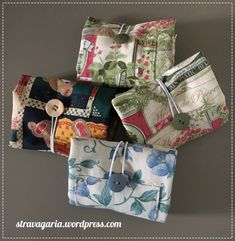 Nuove shopper | STRAVAGARIA Sewing Patterns Free, Sewing Tutorials, Sewing Crafts, Sewing Projects, Scrap Busters, Hand Embroidery Videos, Bazaar Ideas, Idee Diy, Fabric Bags