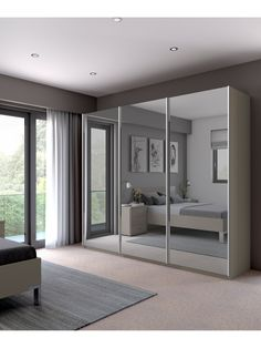 John Lewis & Partners Elstra Wardrobe with Mirrored Sliding Doors Wardrobe Room, Wardrobe Design Bedroom, Bedroom Furniture Design, Ikea Pax Wardrobe, White Wardrobe, Mirrored Wardrobe Doors, Sliding Wardrobe Doors, Ikea Sliding Wardrobes, Room Ideas Bedroom
