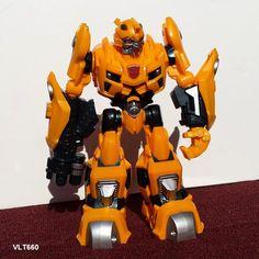 "Tansformer Bumblebee Robot 2009 Hasbro Action Figure Talking Gun Shooting - 10"" #Hasbro"
