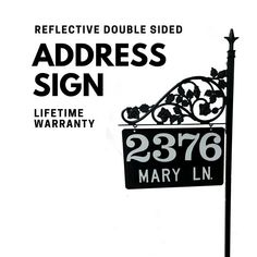 Reflective Address Sign - Personalized Mothers Day for Yard for 911 and others to find you Address Signs For Yard, Address Numbers, Driveway Markers, Mailbox Makeover, Italo Disco, Street Names, Personalized Signs, Solar Lights, Fathers Day Gifts