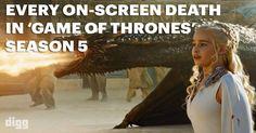 Todas as mortes da 5º temporada de Game of Thrones