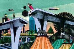 Magnifiques illustrations surréalistes de Pierre-Paul Pariseau