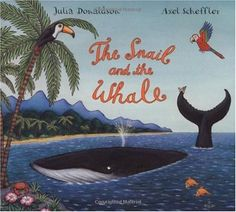 The Snail and the Whale by Julia Donaldson, is a great book to introduce rhyming, predicition and different vocabulary to your child. Toddler Books, Childrens Books, List Of Oceans, Snail And The Whale, The Gruffalo, Thing 1, Wale, Books For Boys, Humpback Whale