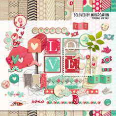 Hello sweeties! Few busy months have passed. I'm now enjoying my Chinese New Year holiday, meaning that I got some time to scrap again! It's a valentine's kit. Hope you'll like it. Enjoy! Papers El...