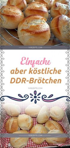 Simple but delicious DDR rolls- Einfache, aber köstliche DDR-Brötchen Simple but delicious DDR rolls - Meatloaf Recipes, Pizza Recipes, Fish Recipes, Gourmet Recipes, Cake Recipes, Dessert Recipes, Delicious Recipes, Bread Recipes, Dessert Simple