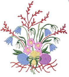 Egg Bouquet 2 Embroidery Design by CD-Creative Design