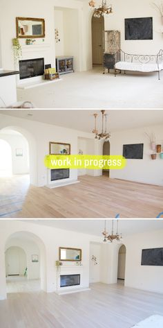 White washed white oak floors!!! I'm in love with this!!! http://mycakies.com/2012/05/floors/