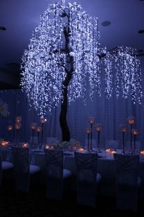 An LED weeping willow