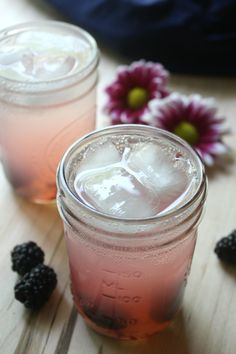 Blackberry Vodka Lemonade Fizz. Sip the Summer away with this light and refreshing cocktail.