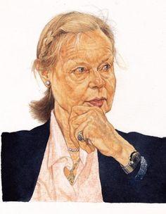Ritratti per La Repubblica | Riccardo Mannelli Portrait Watercolour, Art