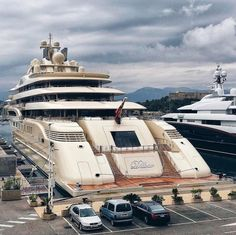 Dilbar, the world's largest motor yacht by volume, owned by Alisher Usmanov. The yacht was built in Bremen at the Lurssen yards that during World War II equipped the German Navy with fast patrol boats. The boats were known as S-Boats in Germany but Allied forces always referred to them as E-Boats. Now Lurssen builds the biggest superyachts for outrageously rich people.
