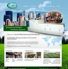 Carroll Manufacturing International website designed by Fusion Studios Inc.