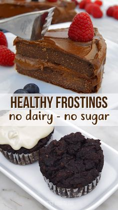 Easy healthy frosting recipes that are all vegan and made from whole food ingredients. Includes recipes for chocolate avocado frosting, cashew vanilla frosting, white chocolate frosting, orange frosting, mango lemon frosting and more. Healthy Frosting Recipes, Desserts Keto, Vegan Frosting, Sugar Free Desserts, Vegan Sweets, Healthy Dessert Recipes, Healthy Baking, Vanilla Frosting, Sugar Free Frosting